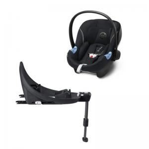 Cybex Aton M I-Size Infant Car Seat Lavastone Black incl. Base M