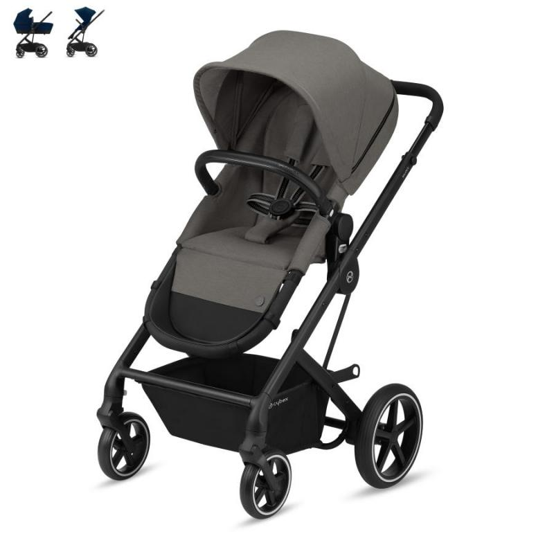Cybex Balios S 2-in-1 Black Chassis Soho Grey