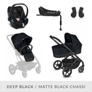 Cybex Balios S 2-in-One Complete Stroller Set Deep Black