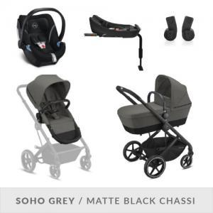Cybex Balios S 2-in-One Complete Stroller Set Soho Grey