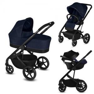 Cybex Balios S Duo stroller + Baby Car Seat Aton 5 - Denim Blue