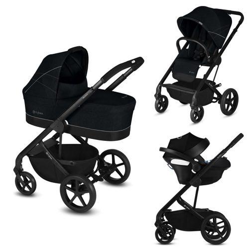 Cybex Balios S Duo Stroller Baby Car Seat Aton 5 Lavastone Black