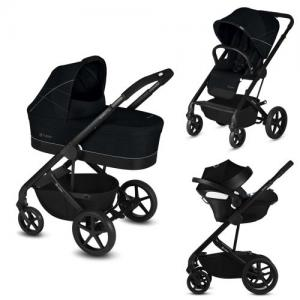 ​Cybex Balios S Duo stroller + Baby Car Seat Aton 5 - Lavastone Black