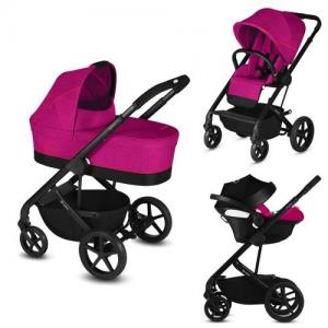 Cybex Balios S Duovagn + Babyskydd Aton 5 - Passion Pink