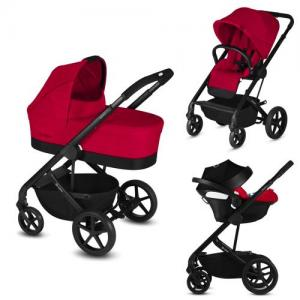 ​Cybex Balios S Duo stroller + Baby Car Seat Aton 5 - Rebel Red