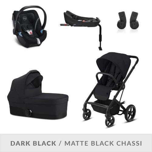 Cybex Balios S LUX Komplett Barnvagnspaket - Deep Black