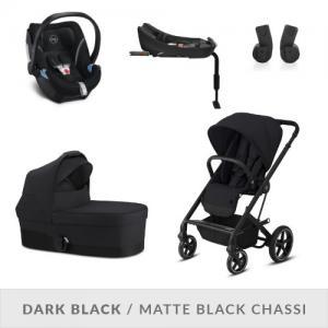 Cybex Balios S LUX Complete Stroller Set Deep Black