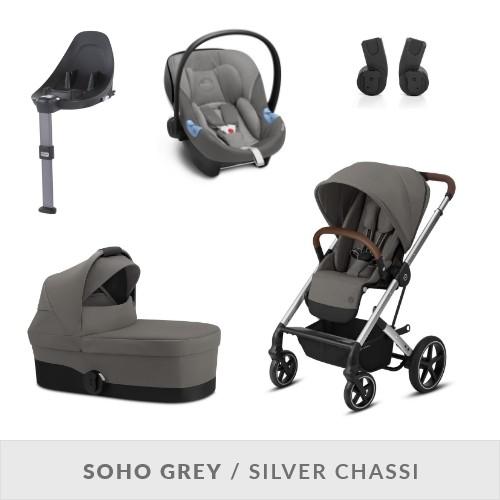 Cybex Balios S LUX Komplett Barnvagnspaket - Soho Grey