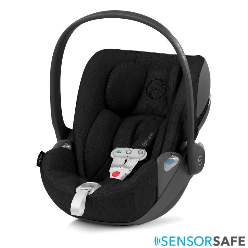 Cybex Cloud Z I-Size Infant Car Seat incl. SensorSafe Deep Black PLUS -fabric