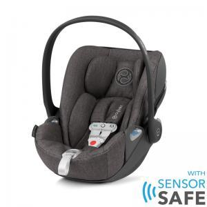 Cybex Cloud Z I-Size Infant Car Seat incl. SensorSafe Manhattan Grey PLUS -fabric