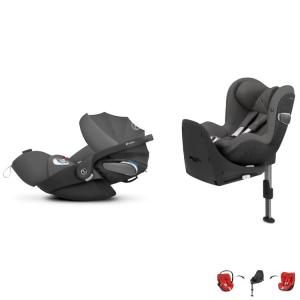 Cybex Cloud Z i-Size & Sirona Z i-Size inkl. Base Z Manhattan Grey