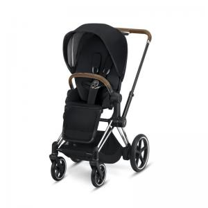 Cybex ePriam Chrome Chassis Brown Leatherette & LUX Seat Premium Black