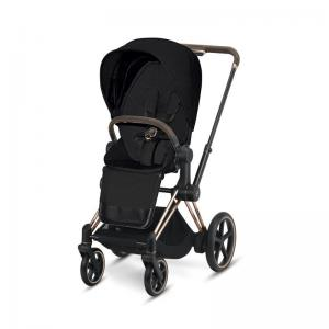 Cybex ePriam Rosegold Chassis & LUX Seat Stardust Black PLUS-fabric