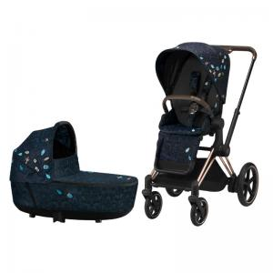 Cybex ePriam Komplett Barnvagn med Rosegold Chassi - Jewels Of Nature