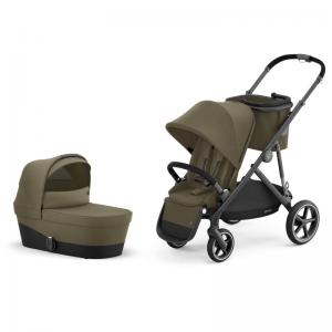 Cybex Gazelle S Black Frame CLASSIC BEIGE - Pushchair & One Cot