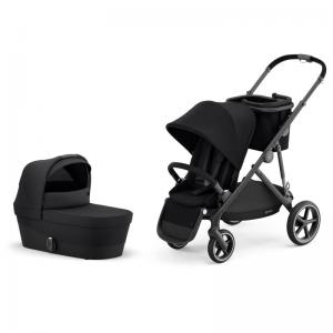 Cybex Gazelle S Black Frame DEEP BLACK - Pushchair & One Cot