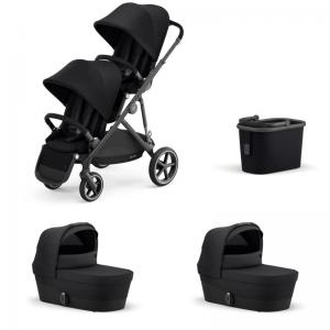 Cybex Gazelle S Black Frame DEEP BLACK - Twin Stroller