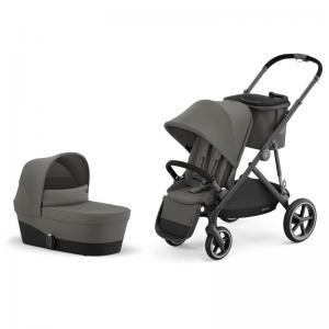 Cybex Gazelle S Black Frame SOHO GREY - Pushchair & One Cot