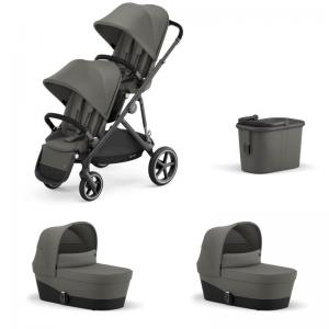 Cybex Gazelle S Black Frame SOHO GREY - Twin Stroller