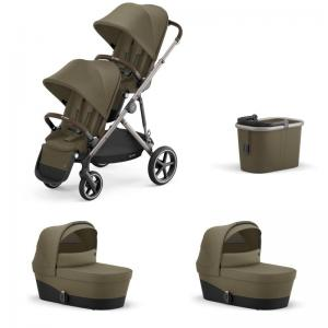 Cybex Gazelle S Taupe Frame CLASSIC BEIGE - Twin Stroller