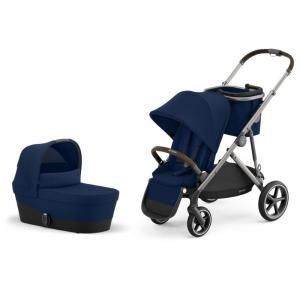 Cybex Gazelle S Taupe Frame NAVY BLUE - Pushchair & One Cot