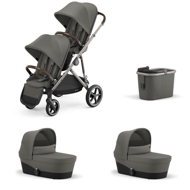 Cybex Gazelle S Taupe Chassi SOHO GREY - Tvillingvagn