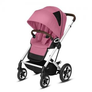 Cybex Gold Talos S Lux Komplett Sittvagn - Silver Chassi Magnolia Pink