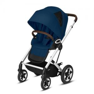 Cybex Gold Talos S Lux Komplett Sittvagn - Silver Chassi Navy Blue