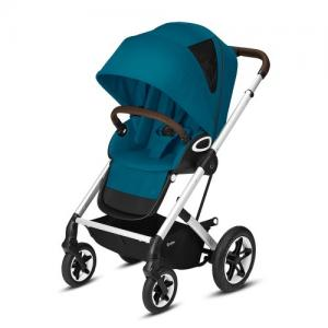 Cybex Gold Talos S Lux Komplett Sittvagn - Silver Chassi River Blue
