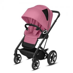 Cybex Gold Talos S Lux Stroller - Svart Chassi Magnolia Pink