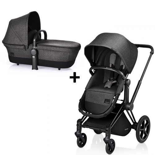 Cybex Priam 2-in-1 Manhattan Grey - Svart Chassi