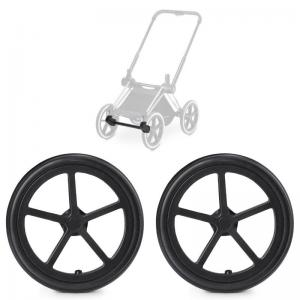 Cybex Priam Trekking Wheels 2-pack Black incl. Front Wheel Adapter