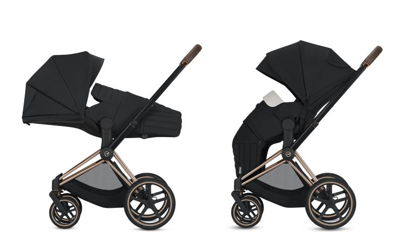 Cybex Priam Complete Stroller With Matt Black Chassis Lux Seat