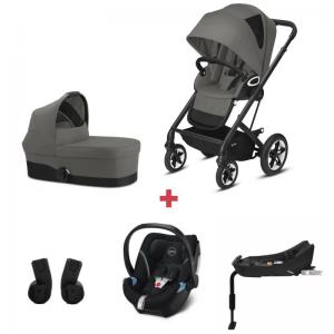 Cybex Talos S LUX Package incl. Aton 5 - BLACK / SOHO GREY