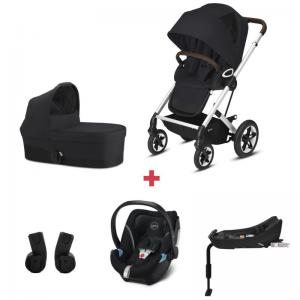 Cybex Talos S LUX Package incl. Aton 5 - SILVER / DEEP BLACK