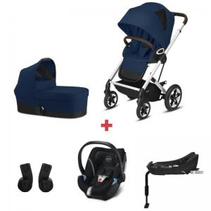 Cybex Talos S LUX Package incl. Aton 5 - SILVER / NAVY BLUE