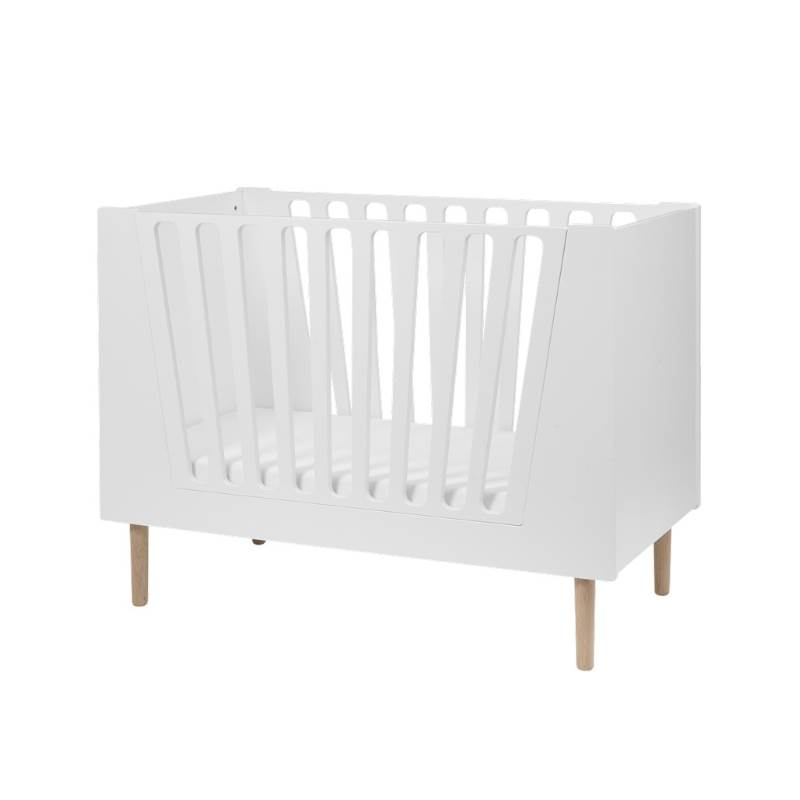 Done By Deer Baby Cot 60 x 120 cm White (Little Interiors)