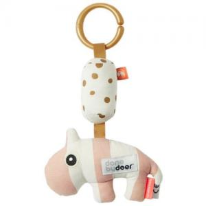 Done By Deer Stroller Pendant Hippo Pink