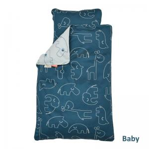 Done By Deer Bedlinen Baby Sleepy Blue