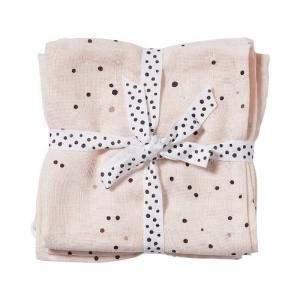 Done By Deer Muslin 2-pack Dreamy Dots Pink