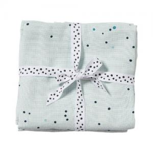 Done By Deer Muslin 2-pack Dreamy Dots Blue