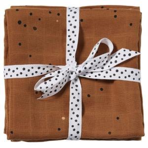 Done By Deer Cotton Blanket 2 Pcs Dreamy Dots Mustard