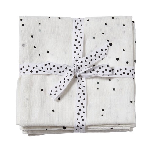 Done By Deer Swaddle 2-pack Dreamy dots white