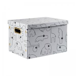 Done By Deer Folding Storage Box Contour Grey