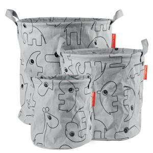 Done By Deer Storage Baskets 3 pcs Contour Grey