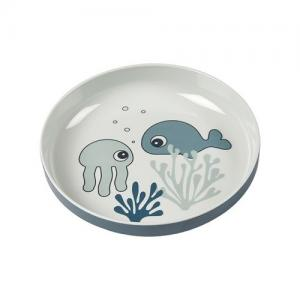 Done By Deer Yummy Mini Plate Sea Friends Blue