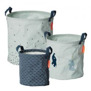 Done By Deer Soft Storage Baskets 3 Pack Blue