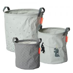 Done By Deer Soft Storage Baskets 3 Pack Gray