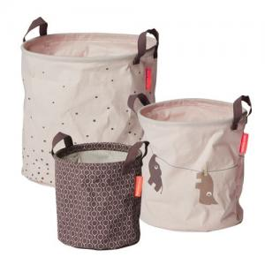 Done By Deer Soft Storage Baskets 3 Pack Pink