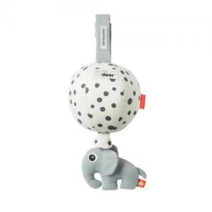 Done By Deer Musical Box Balloon Happy Dots Grey